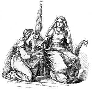 Frigg i dworka przy kądzieli, Alexander Murray, 1874, Manual of Mythology